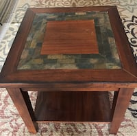 Solid wood end table side table very good condition- Moving sale Carteret, 07008