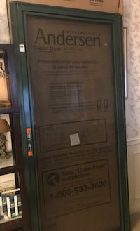 Andersen 3000 easy install storm door with brass door handle Germantown, 20874