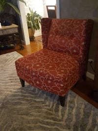 brown and red floral padded chair Raytown, 64133