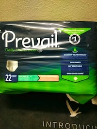 """Prevail adult underwear  youth sm. 20""""-34"""" maxsorb Portland, 97227"""