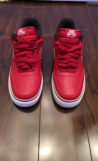 Red Nike Air Force ones Great condition price negotiable 9'5 Mississauga, L5B 3J4
