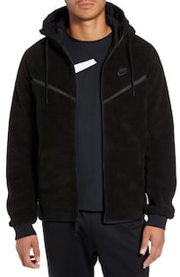Tech icon fleece zip up - size large