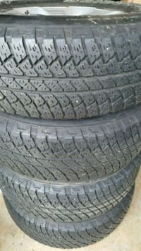 Five black vehicle tires Slightly used 255/70/18 Woodlawn