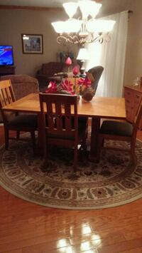 brown wooden dining table set 1135 mi