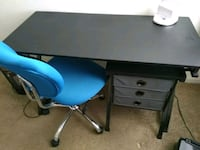black and blue wooden desk Gainesville, 30504
