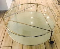 round brass framed rolling table with clear glass top Kissimmee, 34744