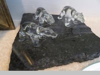 Polar Bear Glass Art on Heavy Granite Slab by Christian G. Salz Whitchurch-Stouffville