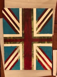 Union Jack original painting by local artists  3750 km