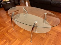 New! 3 Piece Silver Glass Coffee Table Set (1 month old) New York, 11368