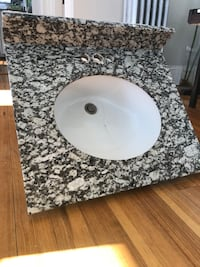 "24"" granite countertop and sink"