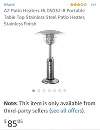 Patio table heater