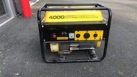 black and yellow Champion portable generator 48 km