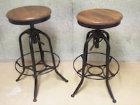 2 Rustic Bar Stools  Pickering
