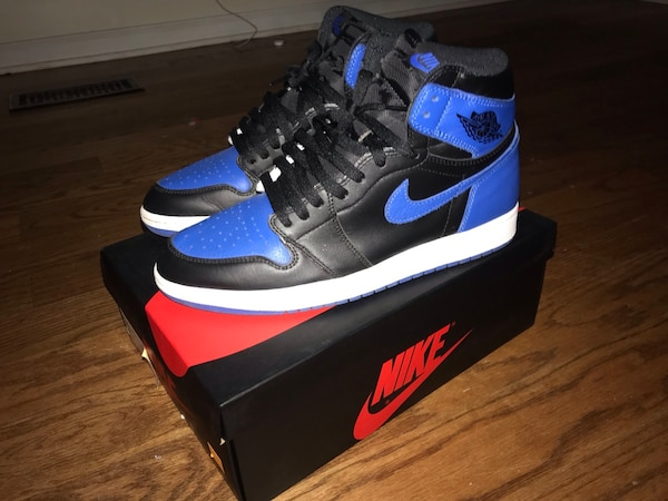 af356732667 Used pair of black-and-blue Nike basketball shoes for sale in Douglasville