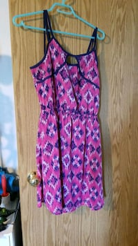Pink and Navy blue dress (Size LG).. Edmonton, T5S 1T5