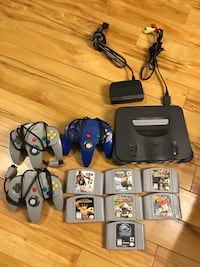 Nintendo 64 with three controllers and seven games, all cords necessary are included. 9.5/10 for the condition. Dartmouth, B2Y 3J8