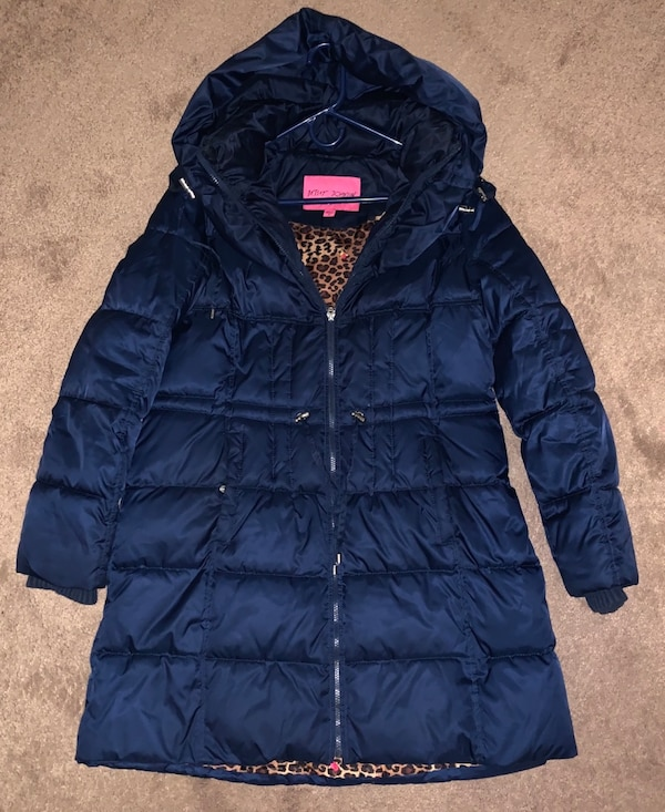Betsey Johnson XL long blue coat