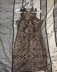 Black dress with rose gold sparke detailing Airdrie, T4B 3E9