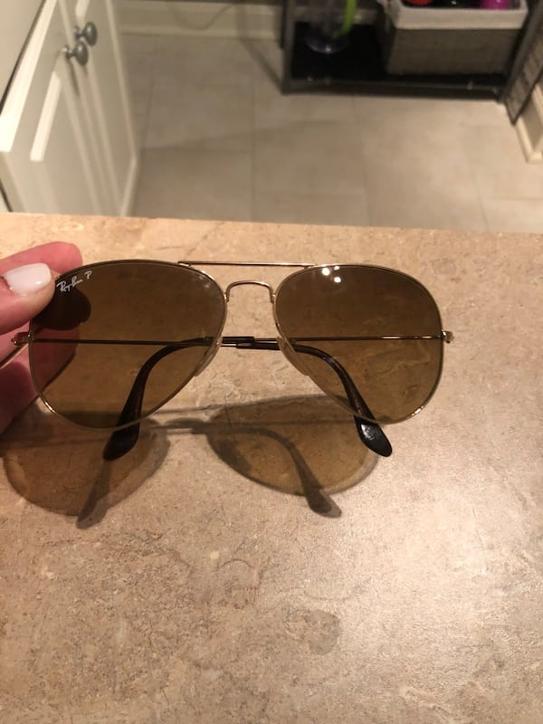 Polarized light brown/gold trim sunglasses- gently used ae68e44f-c3d4-45f3-9463-948f45d5feb7