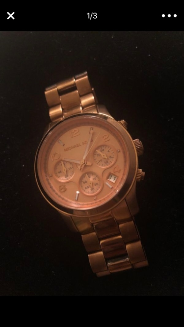 MK original rose gold watch