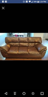 Ashley furniture leather couch