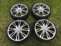 20 inch universal 5 lug Chrome Xpressions rims with tires Lexington Park, 20653
