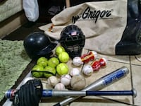 Baseballs, softballs, helmet and accessories plus  Independence, 64052