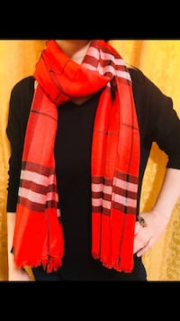 Burberry scarf in red check  Edmonton