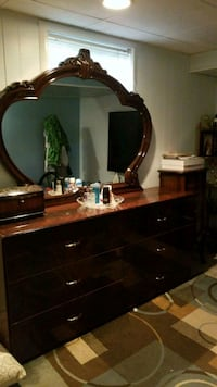 black wooden dresser with mirror Falls Church, 22041
