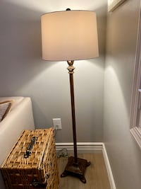 Designer floor lamp with shade. 3 way bulb.