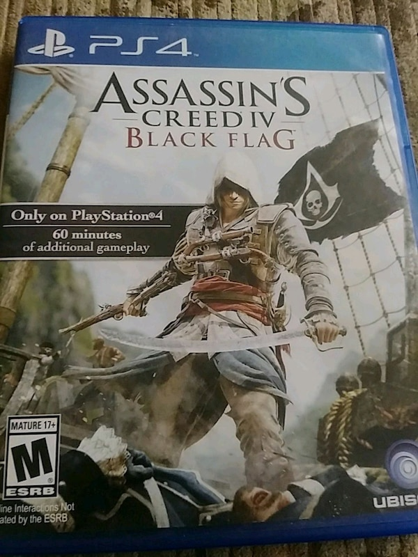 Used Ps4 Assassins Creed Iv Blackflag For Sale In Bakersfield Letgo