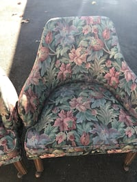 green, pink, and white floral sofa chair San Leandro, 94577