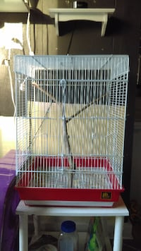 white and red pet cage MIDLOTHIAN