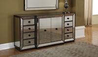 white and brown wooden dresser with mirror Victorville, 92392