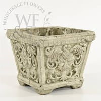 French Insignia Square Clay Container San Diego
