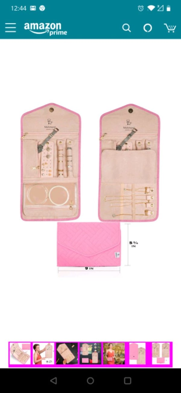 Travel Jewelry Organizer Roll - Stylish and Compact Foldable Case acea9ca7-7474-4fd0-abc6-634257b44f8a