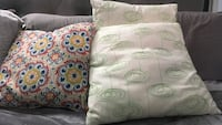 White and green throw pillows Kitchener, N2A 3P6
