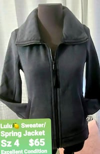 Lululemon Jacket with really cool zipper detailing in back