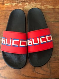 pair of black-and-red Adidas slide sandals Oakland, 94607