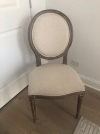 Natural linen paige  round back chair Chicago, 60642