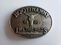 1989 Vintage HOOTINANNY In The Hills Belt Buckle Calgary, T2R 0S8