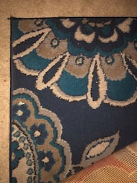 Large blue flower rug