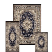 Persian Style Traditional Blue 3pc Rug Set Los Angeles
