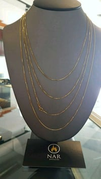 10k real gold solid Box chain 1mm Toronto, M1K 1N8