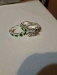 New sterling silver set of rings