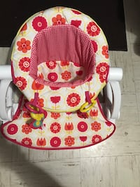 white and red floral bouncer seat Mission, 78572