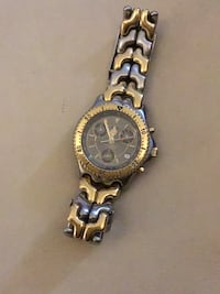 round gold-colored chronograph watch with link bracelet Medley, 33178