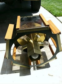 brown wooden framed glass top coffee table San Diego, 92128