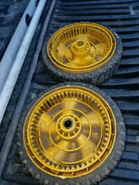 2 lawn mower wheels priced each. Also have other wheels, just ask. Lenexa, 66285