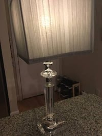 Night stand lamps (2) - Grey and crystal/glass - $50 (Bethesda, MD) Bethesda